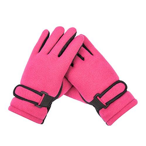 Kids Boy Girl Fleece Winter Gloves Mittens Non Slip Riding Driving Hiking Ski Sports