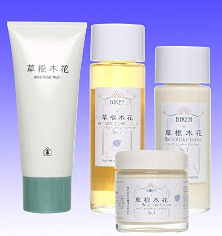 「敏感肌のスキンケア 漢方自然派化粧品4点セット」 自然派化粧品 男女兼用化粧品 美健漢方研究所