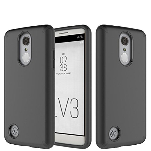 Price comparison product image GBSELL Hybrid Hard Protective Case Cover for LG Aristo LV3 V3 MS210 LG M210 LG MS210 (Black)