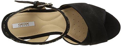 Geox D Heritage A - Sandalias de Vestir de cuero mujer negro - negro