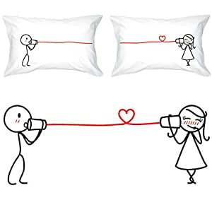 BoldLoft Say I Love You Couples Pillowcases| Couples Gifts| Gifts for Her| Girlfriend Gifts| Wife Gifts for Her| His and Hers Gifts|Boyfriend Girlfriend Gifts| Husband Wife Gifts