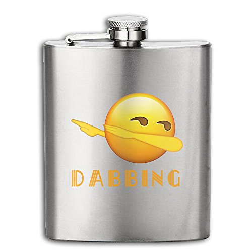 Dabbing Emoji Dab Dance Hip Hop 6OZ Stainless Steel Hip Flask Pocket Flagon Shot Flask Wine Pot