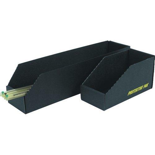 Black Protektive Pak 37104 Open Bin Box 12 x 6 x 4.5