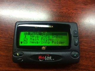 New Motorola A06cqb5812aa Weblink Wireless Pager / Beeper / Messenger