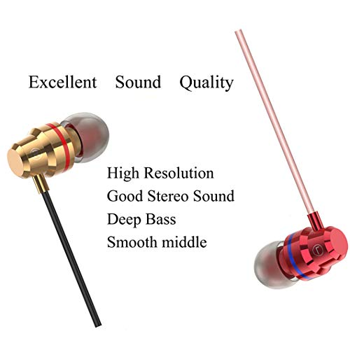 Earbuds with Microphone 2 Pack Ear Buds Earphones Headphones Mic and Volume Control Wired in Ear Noise Isolating Bass