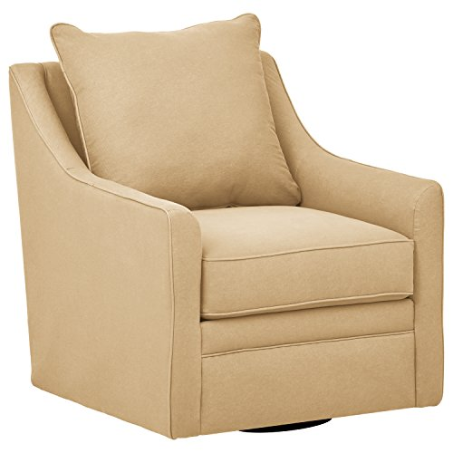"Stone & Beam Larkin Swivel Chair, 30""W, Khaki"