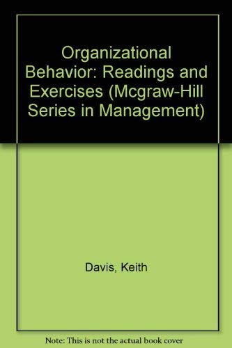 Organizational Behavior: Readings and Exercises (McGraw-Hill Series in Management)