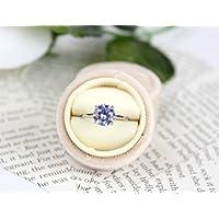 Champagne Velvet Ring Box