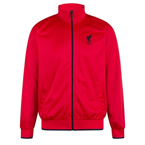 Liverpool FC Official Soccer Gift Mens Retro Track Top Jacket Red LFC Med. ()