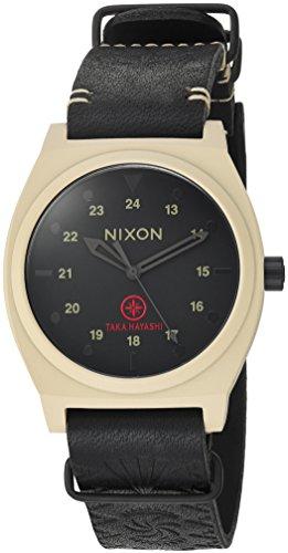 Nixon Men's 'Time Teller LTD' Quartz Metal and Leather Watch, Color:Brown (Model: (Taka Collection)