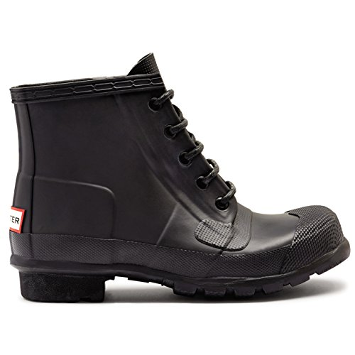 Womens Hunter Original Lace Up Wellingtons Waterproof Rain Ankle Boots Black XEzjfaWU