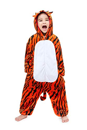 Yutown New Kids Unicorn Costume Animal Onesie Pajamas Halloween Dress Up Gift Tiger 100]()