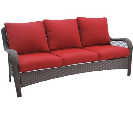 Better Homes and Gardens Colebrook Outdoor Sofa, Seats 3 -red