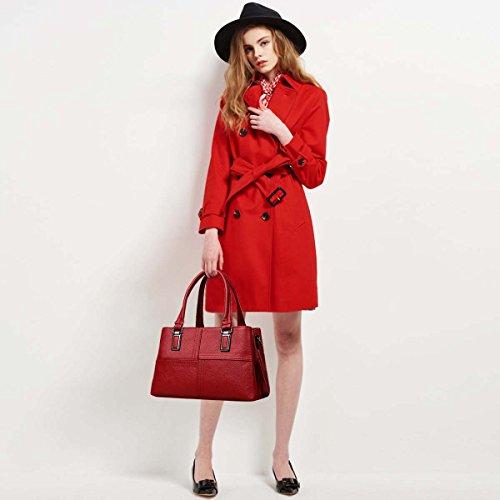 Gran Las Esposas Bolso B NICOLE Capacidad de de amp; Hombro Negro Femenina de Bolso señoras Rojo de Bolso de Las diagonales Mujeres Moda DORIS de Moda x1XqOPw1A
