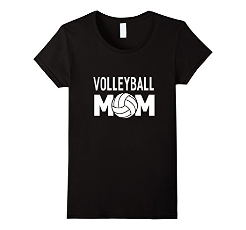 Womens Volleyball Mom T-shirt Women Funny Sports Gifts XL Black