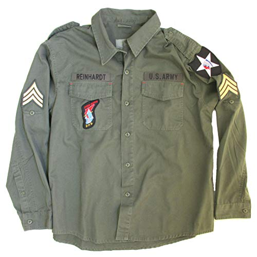 John Lennon Army Jacket Costume - Beatles Revolution Shirt Replica (Medium) Green (John Lennon Military Jacket)