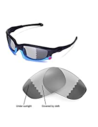 Walleva Replacement Lenses for Oakley Split Jacket Sunglasses - Multiple Options (Photochromic/Transition - Polarized)