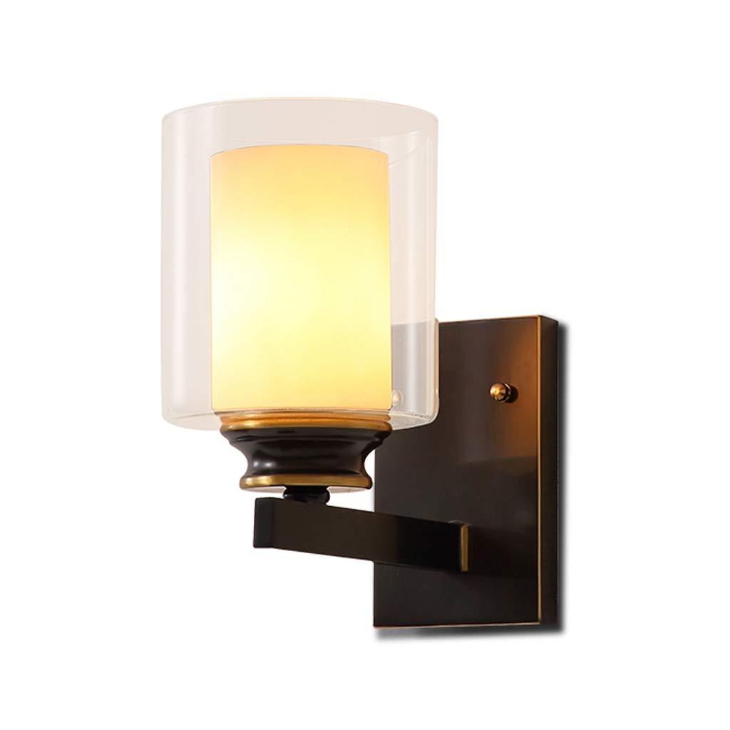 Kupfer Glaswandlampe Schlafzimmer Nacht Wohnzimmer Innenraum Gang Lampe Treppenwand