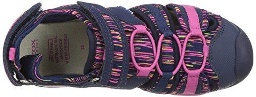 Pictures of Geox Borealis Girl 8 Sandal Navy/Fuchsia J820WA050EEC4268 2