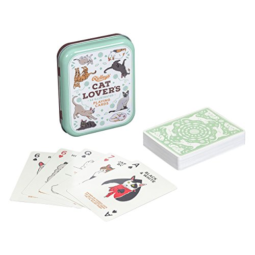 - Ridley's Cat Lovers Deck of 52 Illustated Cat Breed Index Playing Cards