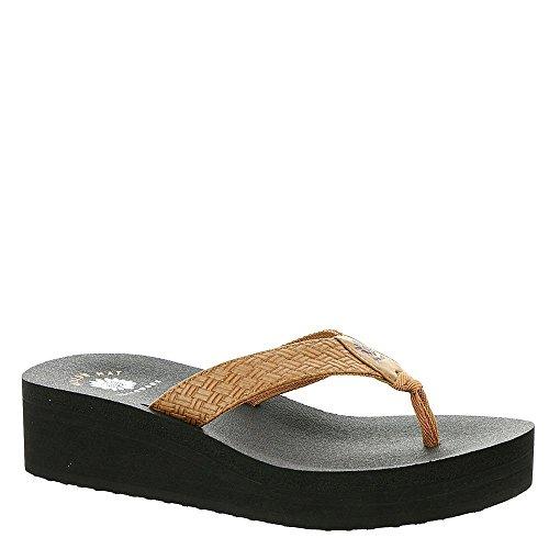 yellow box flip flops brown - 9