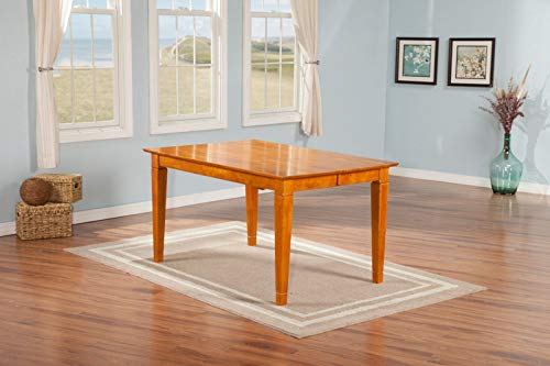 Bay Dining Table - Atlantic Furniture AD781217 Montego Bay Dining Table Caramel
