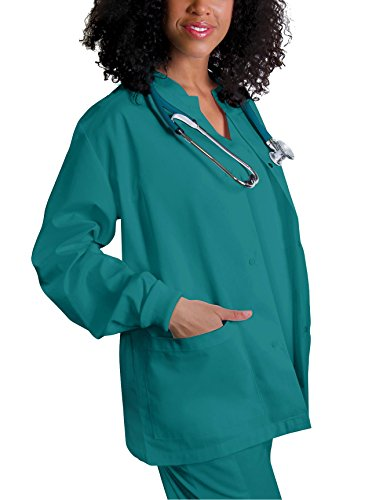 Adar Universal Round Neck Warm-Up Jacket (Available in 39 colors) - 602 - Teal Blue - M -