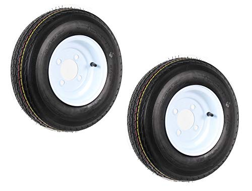 Set of 2 Trailer Tires & Rims 480-8 4.80-8 4.80x8 8
