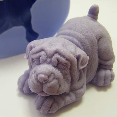 Soap Mold Shar Pei 3D Soap Mold Silicone Molds Mold for Soap Mold of a Puppy Mold of the Dog Mold Silicone Mold Animals Mold