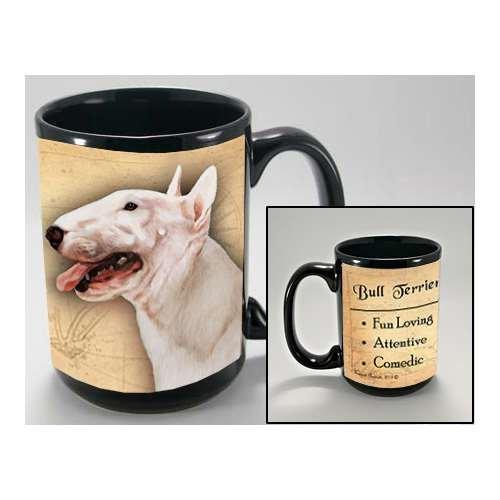 MY FAITHFUL FRIEND BULL TERRIER, WHITE COFFEE CUP MUG PET GIFT