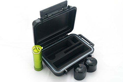 BOMBER CASE - Pax 3 & 2 / APX Smell Proof Case Carry Kit with Soft Bumper End Caps & Material Bottle (Oven Vaporizer Pax)