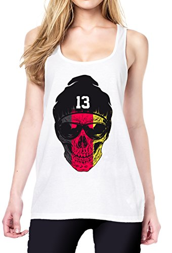 Germany Skull Tanktop White Certified Freak