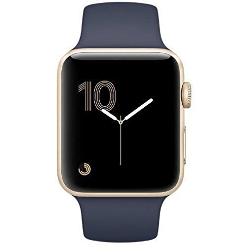 Apple Watch Series 2 42mm (Gold Aluminum Case, Midnight Blue Sport Band) MQ152LL/A by Apple