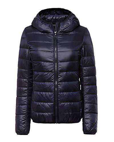 ZiXing Warm Packable Down Outdoor Coat Navy Hooded Jacket Ultra Lightweight Women's Puffer SwfrSqg