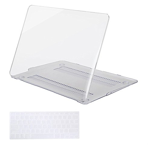 MOSISOMacBook Air 13 Inch Case (Release 2010-2017 Older Version), Plastic Hard Shell Case & Keyboard Cover Only Compatible MacBook Air 13 Inch (A1369 & A1466), Crystal Clear
