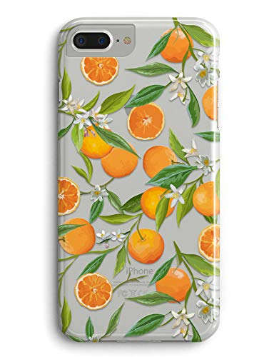 iPhone XR Case,Orange Citrus Fruit Pattern Clear Design Printed Transparent Back Case with TPU Bumper Protective Case Cover for Apple iPhone XR