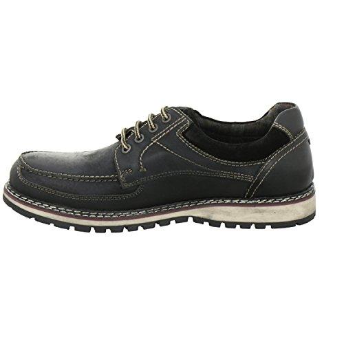 s.Oliver 13609-27-001 - Zapatos de cordones de Piel para hombre negro negro 44
