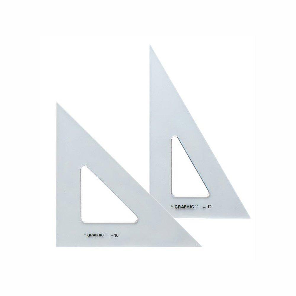 Alvin AS1012 10'' & 12'' Transparent Triangle Set