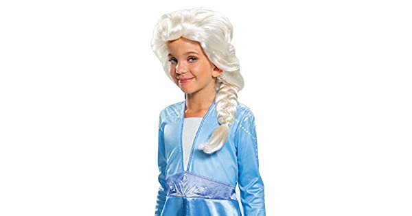 Amazon.com: Disguise Elsa - Peluca infantil, color blanco ...