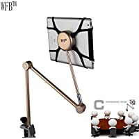 WFB Bed and Desk Mount with exclusive free turning base & Quick Attach Tablet holder for iPads & Tablets For Easy and Relaxed Viewing in any Position (Rose Gold)
