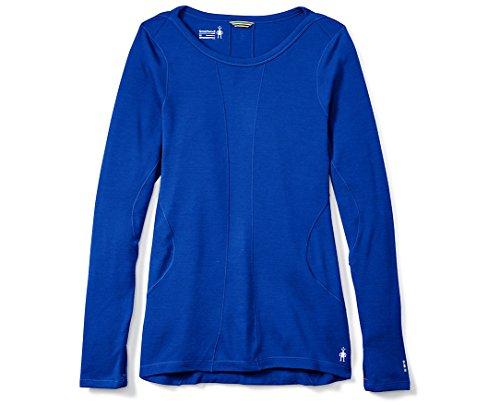 (Smartwool Women's PhD Light Long Sleeve Top Dark Blue Shirt)