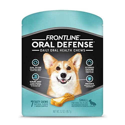 FRONTLINE Oral Defense Daily Oral Health Chews for Small Dogs (10-25 lb) 7 Chews