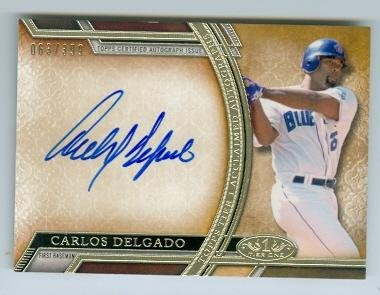 Carlos Delgado autographed baseball card (Toronto Blue Jays All Star) 2015 Topps Tier One #AACD Certified ()