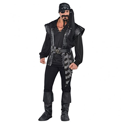 Sea Scoundrel Costumes (Amscan International Adults Dark Sea Scoundrel Pirate Costume by Amscan International)