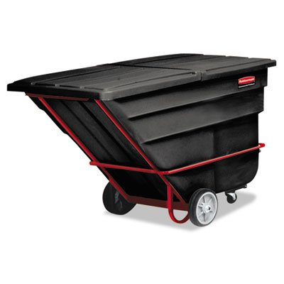(Rubbermaid Commercial Products Rcp 1036 Bla 2 Cu Yd Tilt Truck Heavy Duty Black RCP 1036 BLA)