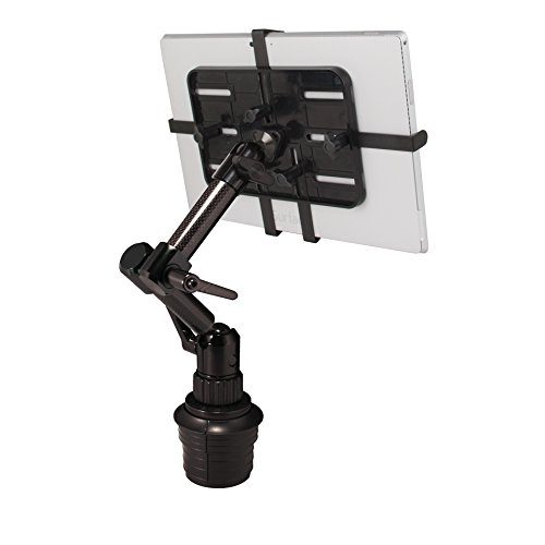 "The Joy Factory Unite M Universal Carbon Fiber Car/Truck Cup Holder Mount for 7""-11"" Tablets (MNU208)"