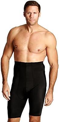 Black, M Insta Slim Mens Hi-Waist Undershorts Shapewear Shorts