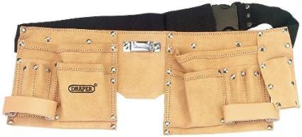 5b1fc2b088aa Draper DIY Series 09241 Leather Double Tool Pouch  Amazon.co.uk  DIY ...