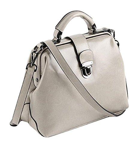 En Main à à Docteur Paquet Bag Grey Sacs Boucle De En Messenger Main Cire Rétro Sac Cuir Pétrole Cuir épaule xP4nv