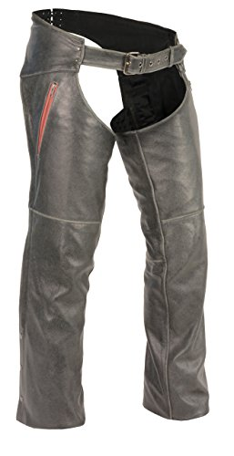 Milwaukee Leather Men's Slash Pocket Chap with Color Acce...